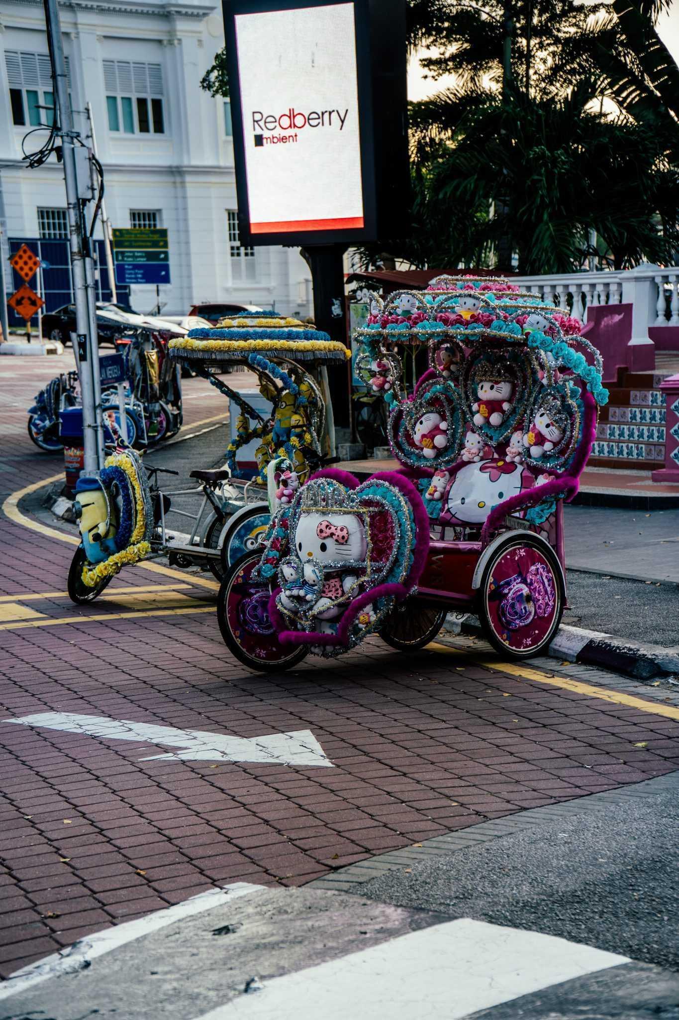 Les tuktuk originaux de Malacca