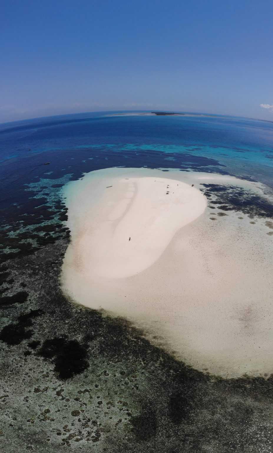 L'île paradisiaque où nous avons déjeuner lors de notre Blue Safari.